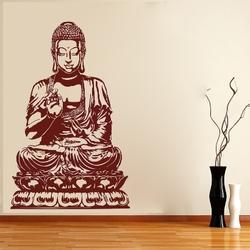 Buddha Sitting On Lotus Wall Decal