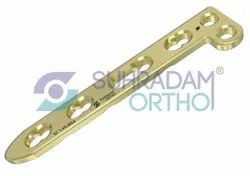 2.4/2.7mm LCP L Dorsal Distal Radius Locking Plate 2 Hole Head