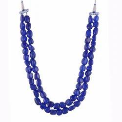 kastiya jewels Multi Strand Blue Colored Jade Quartz Gemstone Necklace