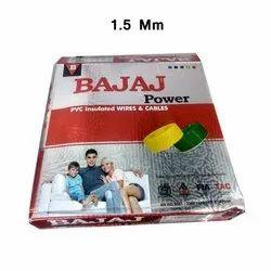 Bajaj Power 1.5 sqmm Copper Conductor PVC Insulated Wire, 90m