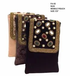 Fancy Beaded Velvet Mobile Pouches FA 65