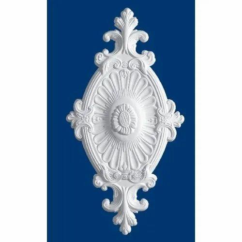 Gypsum Ceiling Medallion, Size: 6x2  Feet