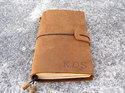Suede Leather Journal With Suede Button ( Refillable)