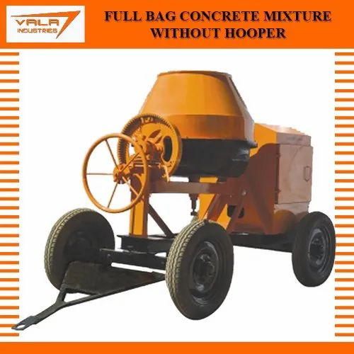 Full Bag Concrete Mixture Without Hooper