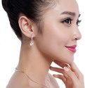 Fashion American Diamond Silver Plated Earcuff