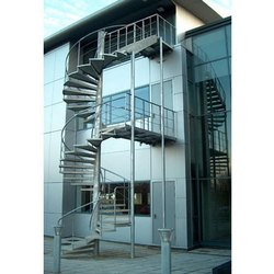 Gray Mild Steel Pitch Setting Staircase