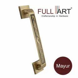 Brass Bronze Finish Door Pull Handle, Size: 8- 18 Inches, Nickel