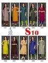 Suvesh Present S10 Cotton Embroidery Formal Wear Kurti