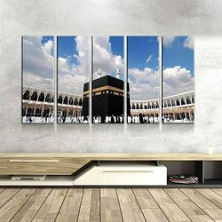 Holy Kaaba Glass Mural