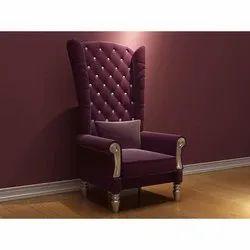 Designer Wooden Sofa Chair, For Hotel