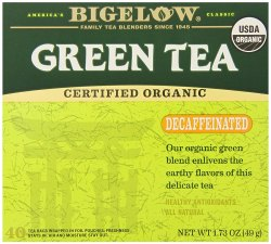 Bigelow Tea Organic Green Tea Decaffeinated 40 Tea Bags, Packaging Size: 49 Gm