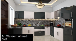 PVC L Shape Modular Kitchen, Work Provided: Wood Work & Furniture, Warranty: 5-10 Years
