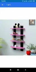 Wooden Wall shelf, Packaging Type: Box