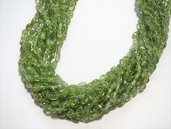 Peridot Oval Semi Precious Natural Stone Bead Strands