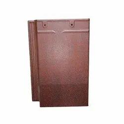 Color Coated Flat Roof Ceramic Tile Brown Dot