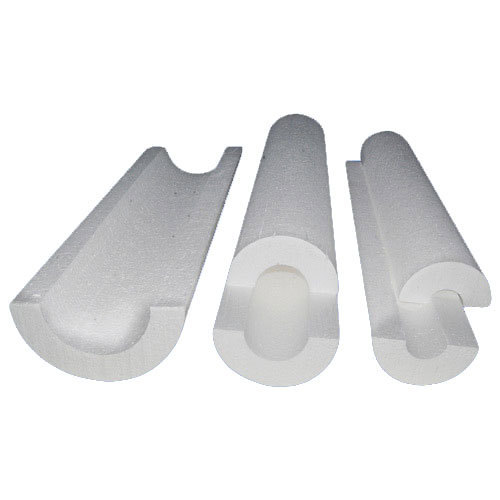 White EPS Thermocol Pipe Section, Size: 1 Inch