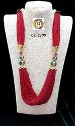 Cl Code Statement Fashion Jewellery Red Necklace Direct From