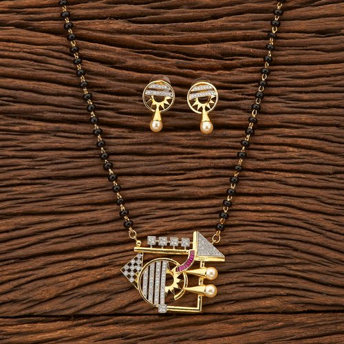 baa2e97969955 Antique Classic Mangalsutra Set With Gold Plating 200394