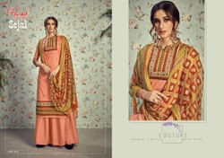 Cotton Printed Sejal Harshit Fashion Plazzo Dress Material, Size: Unstitched