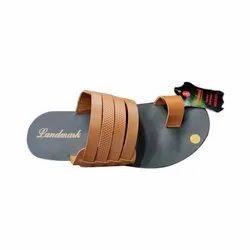 Casual Wear Brown Landmark Mens PU Casual Slipper