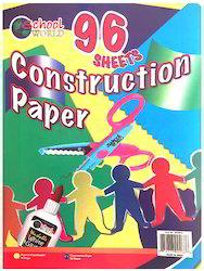 96 Sheets Assorted Colors Construction Paper