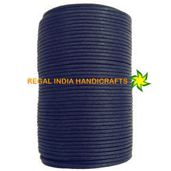 Midnight Blue Waxed Cotton Cord