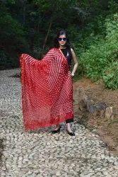 Designer Bandhej Art Silk Dupatta