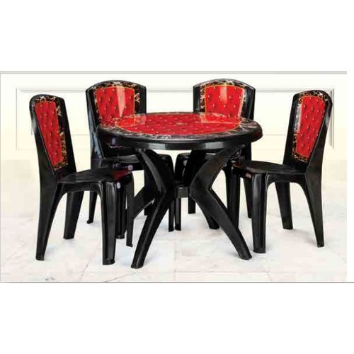Black Red Plastic Printed Dining Table Set Rs 3500 Set Sourav Plasto Pvt Ltd Id 21471538530