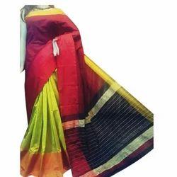 Silk Mahapar Handloom Saree, Length: 6.5 m