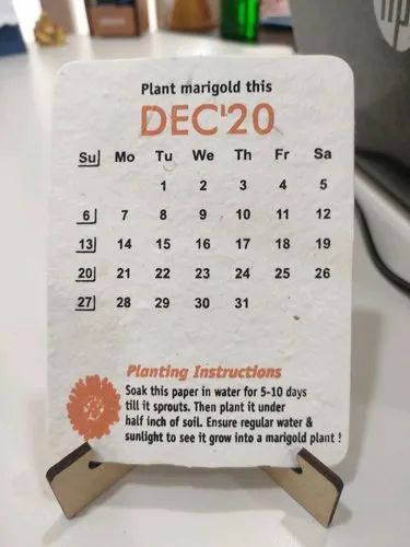2020 Paper English Seed Calendar, For Home   ID: 21679898397
