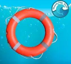 Orang Plastic Lifebouy Tube, For life Saving, Round