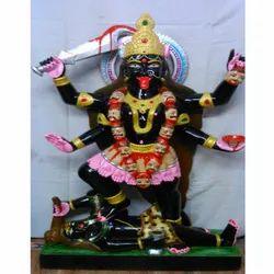 Black Polished Marble Kali Mata Statue
