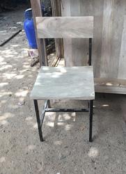 Black Wood And Iron Iron Chair, for Cafe