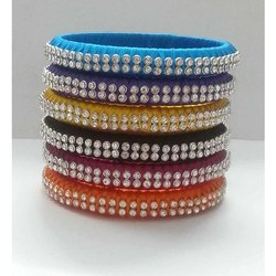 Beautiful Thin Decorative Silk Thread Bangles