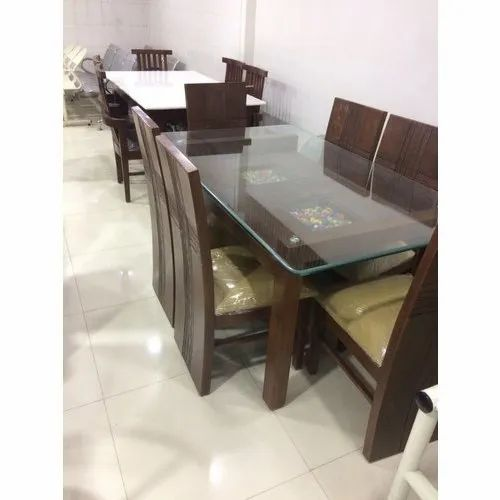 Brown Modern Solid Wood 6 Seater Dining Table For Home Rs 35000 Piece Id 21383506991
