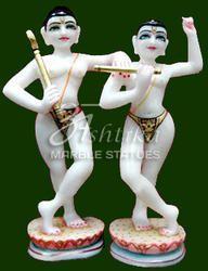 Marble Krishna Balram Statue