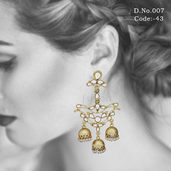 Traditional Antique Kundan Earrings