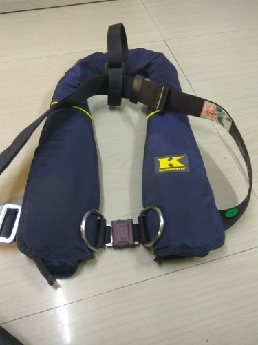 Blue Inflatable Life Jackets SOLAS kadematic 275