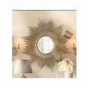 Yadu Metals Iron Decorative Wall Mirror And Wall Art, Size: Costumize