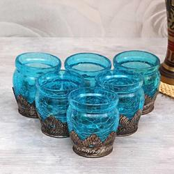 Blue Candle Votive