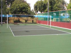 Acrylic Synthetic Outdoor Volleyball Court Flooring