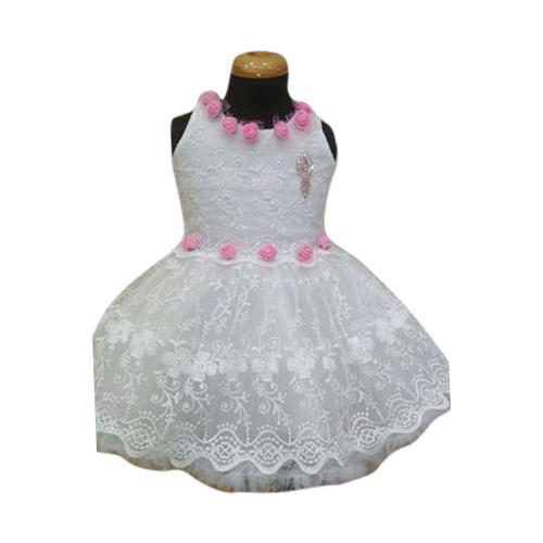 d7bca53d8f51 White, Pink Kids Baby Fancy Frock, Rs 550 /piece, Anu Dresses | ID ...