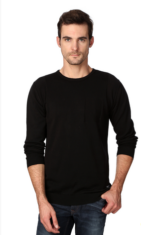 fcf18bee5cc0cb Full Sleeve Van Heusen Black Sweater, Rs 2199 /piece, Van Heusen ...