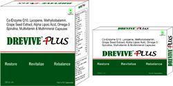Co-enzyme Q10 Lycopene Methylcobalamin Grape Seed Extract Alpha Lipoic Acid Omega-3 Spirulina