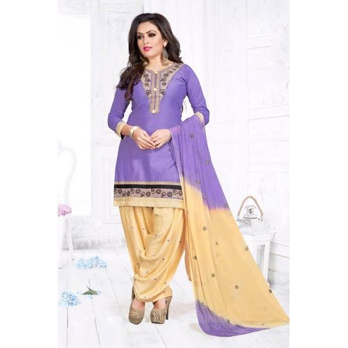 Party Wear Unstitched Ladies Embroidery Suit
