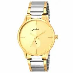Jainx Two Tone Golden Round Dial Analog Men's Watch JM1124