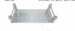 Aai Jee Stainless Steel SS Square Shelf, Size: 10