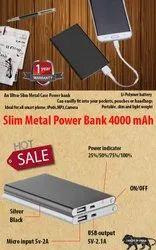 Slim Metal Power Bank 4000 Mah