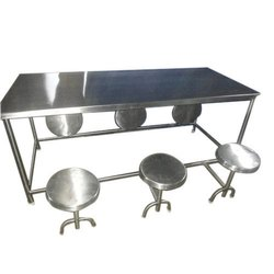 6 Seater Stainless Steel Dining Table