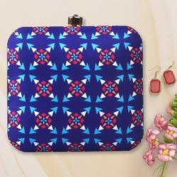 Pattern Printed Fabric Clutch